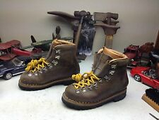 VINTAGE TYROL ITALIAN BROWN LEATHER LACE UP MOUNTAIN HIKING TRAIL BOOTS 6.5 N