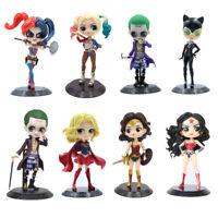 Qposket Suicide Squad Harley Quinn Action Figure Cake Decoration PVC Toys Model