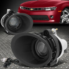 FOR 14-15 CHEVY CAMARO LS LT 3.6L PROJECTOR BUMPER FOG LIGHT LAMP W/BEZEL+SWITCH
