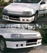 Para Peugeot 405 Parachoques Delantero Alerón Extensión Lip Divisor Falda Fibra