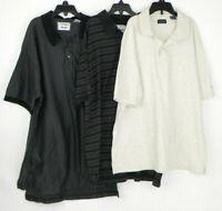Izod Set of 3 Short Sleeve Polo Shirts Men's Size Medium 100% Cotton EUC F