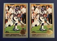 2001 Topps Collection # 283 MIKE ANDERSON Lot 2 Gold Stamped BRONCOS RARE !