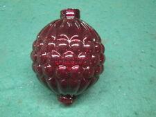 Newly Made Red Ruby Glass Lightning Rod Ball Nice Design Old Farm Barn Primitive