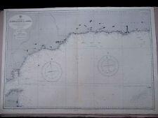"1970 GIBRALTAR to ADRA - SPAIN SE COAST Admiralty Sea Map Chart 28"" x 41"" D30"