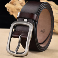 Casual Genuine Leather Men's Belt Pin Buckle Waist Belt Waistband Belts Strap