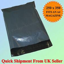 "50 BAGS - 10"" x 14"" STRONG POLY MAILING POSTAGE POSTAL QUALITY SELF SEAL GREY"