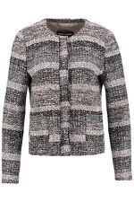 Gerry Weber Women's Knit Jacket Cozy Mood Jacket Black Taupe Size 48