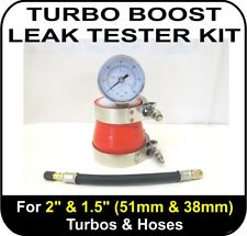 """TURBO BOOST LEAK TESTER Fits 2"""" & 1.5"""" (51 & 38mm) Turbos Pipes Hose Tool Air"""