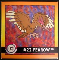 Carte Pokémon FEAROW / RAPASDEPIC #22 English Card Artbox 1999 STICKER NEUF