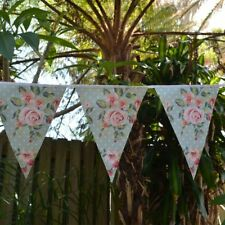 VINTAGE FLOWERS BUNTING PARTY HANGING DECORATION FLORAL BANNER HIGH TEA GARDEN