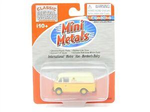 HO 1/87 Scale CMW Mini Metals 30356 Borden's Dairy Intl Metro Van Vehicle