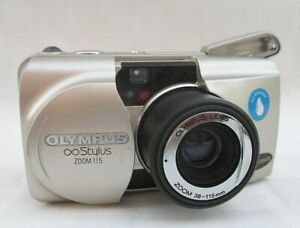 OLYMPUS STYLUS ZOOM 115 INFINITY 35mm POINT & SHOOT FILM CAMERA TESTED WORKING