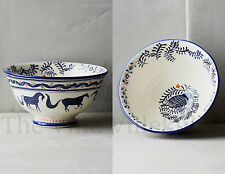"New Anthropologie ""Saga"" Cereal Bowl ~ Storybook Bird & Horse Collectors Design"