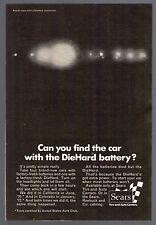 1972 Sears Diehard Car Battery Print Ad~5 X 7 Inches Full Page