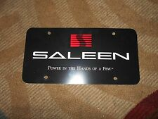 SALEEN FORD MUSTANG DODGE CHALLENGER POWER IN THE HANDS OF FEW LICENSE PLATE NOS