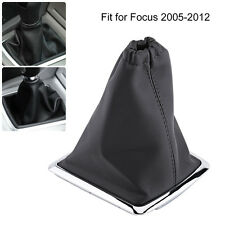 1Pc Gear Shift Stick Gaiter Boot Cover Frame PU Leather For Ford Focus 2005-2012
