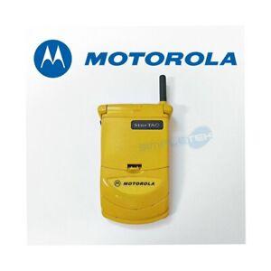TELEFONO CELLULARE MOTOROLA STARTAC 338 GIALLO YELLOW GSM 1996 USATO.