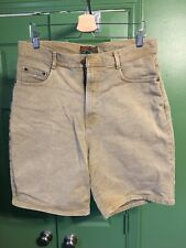Vintage Structure Yellow Denim Jean Shorts 100% Cotton Mens Size 36