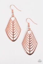 Right On Tracker Rose Gold Earrings Paparazzi Jewelry Accessories
