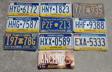 10 Pennsylvania license plate lot for collecting or craft
