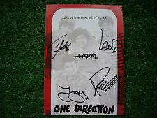 Cartolina autografata - Autographed Postcard - One direction - Real original!