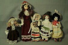 lot vintage porcelain little girl doll ornaments & Uneeda vinyl traditional