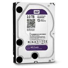 """Wd Purple Wd20purx 2 Tb 3.5"""" Internal Hard Drive - Sata - 64 Mb Buffer"""