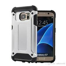Hybrid Armor Shockproof Rugged Bumper Case For Samsung Galaxy S7 Edge White