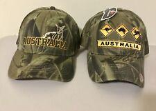 "2 X New Australia Kangaroo Australia Roadsign "" Hat , Cap ""  One size fits"