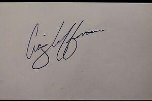 Craig Lefferts Padres Giants Cubs Rangers Autographed 3x5 Index Card JSA 17D