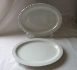 "HTF Set of 2 Oneida Tom's Diner SMALL 10"" x 7-3/4"" Oval Shape Serving Platters"