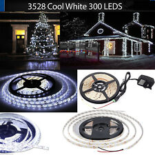 Waterproof 5M 3528 SMD 300 Cool White LED Strip With 12V Power Adapter Full kit