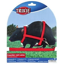 Ferret and rat harness and lead, various colours. metal buckles 6262