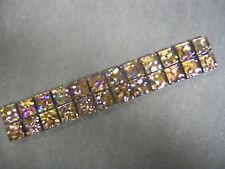 GLASS MOSAIC BORDER TILES - JEWEL BRONZE - 8MM THICK