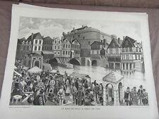 affiche ECOLE SCOLAIRE 1955/60 signée ALFRED CARLIER HISTOIRE CIVILISATION 17/22