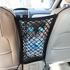 Portable Mesh Pocket Hanging Car Boot Car Seat Tidy Storage Organiser - Black