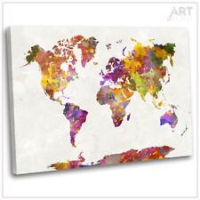 Canvas Map Abstract Art Prints