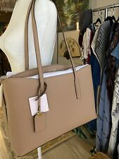 Kate Spade Margaux Large Work Leather Tote Satchel Bag Light Fawn NWT