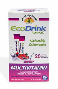 Lily Of The Desert Ecodrink Naturals Multivitamin Powder Stick Mixed Berry 24 Ct