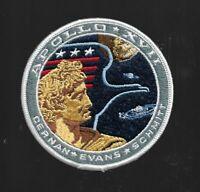 """APOLLO 17 CERNAN SCHMITT  WILLABEE & WARD OFFICIAL SPACE PATCH 4 """" NASA"""