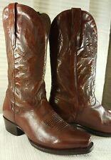 El Dorado Men's Antique Calf Cowboy Boot Square Toe - ED1111, MINT!! RETAIL $529