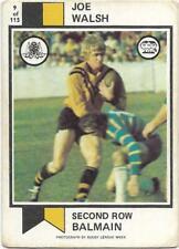 1974 Nrl Rugby League Scanlens (9) Joe WALSH Balmain *