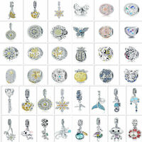 Mutiple 925 Sterling Silver Charms Beads Optional Pendant DIY Fit Bracelet Chain
