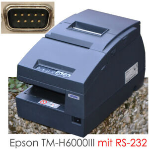 Epson TM-H6000III RS-232 Serial Black Receipt Printer For Windows 2000 XP 7 10