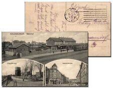 holzwickede - Stazione, S/W 3-bild-ak von 1916