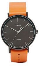 Timex TW2P91400 Men's Weekender Fairfield Full-Size Tan Brown Leather Band Watch