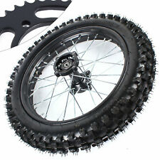 16' Rear Tire Rim and Sprocket Wheel For Pit Dirt Bike 15mm Axle Hole Parts