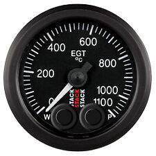 Stack Pro Control Exhaust Gas Temperature 52mm Gauge -- 0-1100degree Degrees C