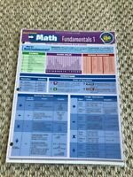 NEW - Math Fundamentals 1 Quick Reference Guide pamphlet (Quick Study Academic)