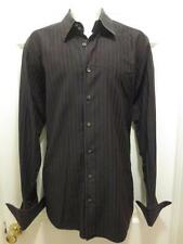 DOLCE & GABBANA D & G Mens BLACK & RED Cotton DRESS SHIRT 16.5 16 1/2 42 ITALY